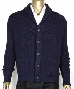 Polo Ralph Lauren Blue L Men's Cotton Shawl Cardigan Sweater Navy 0186171 Wgb Groomsman Gift - item med img