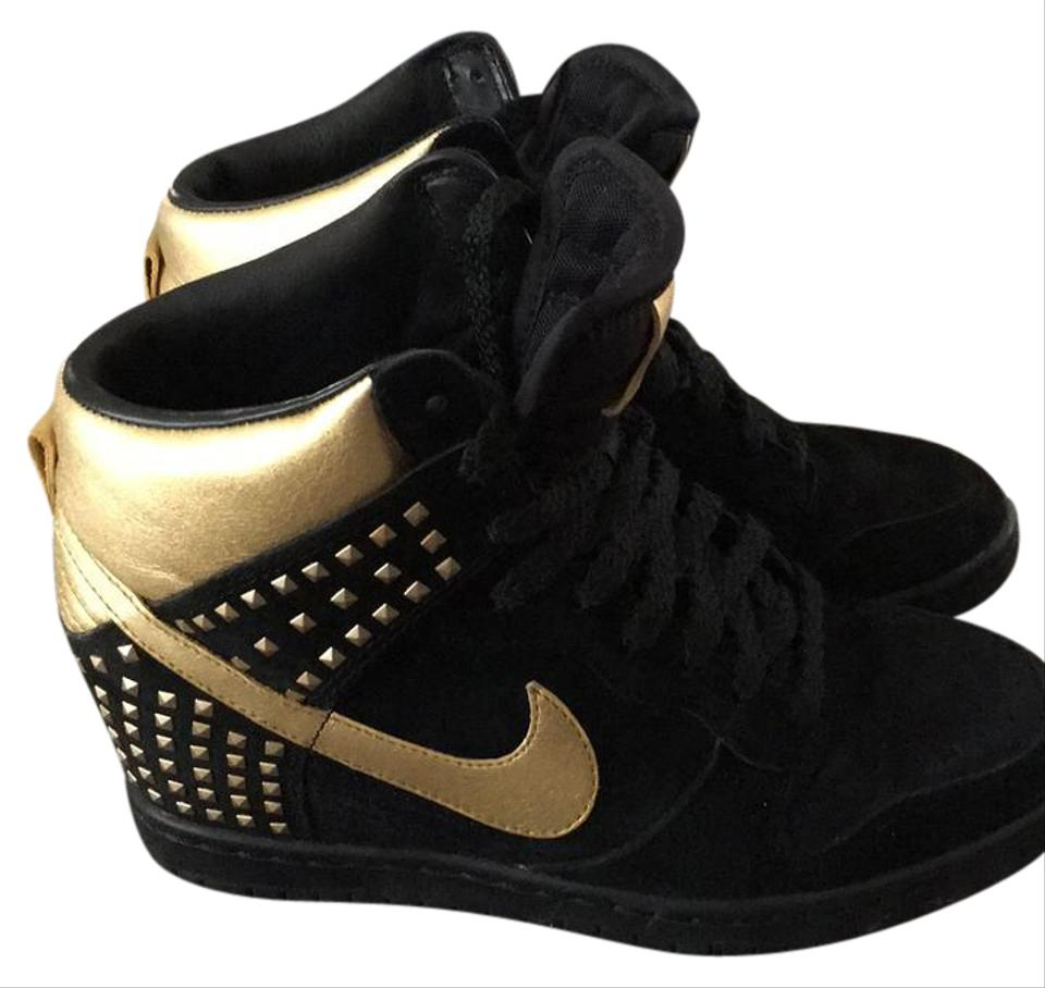 Nike Black and Gold Sneaker Special Edition Wedges ...