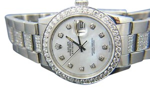 Rolex MEN'S ROLEX DATEJUST 8 CT DIAMOND WATCH W/ ROLEX BOX & APPRAISAL