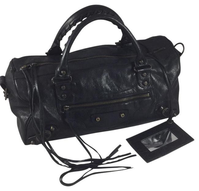 Balenciaga Medium City Black Leather Satchel Balenciaga Medium City Black Leather Satchel Image 1