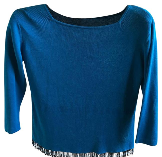 Preload https://img-static.tradesy.com/item/21342221/clio-turquoise-58985-blouse-size-12-l-0-1-650-650.jpg