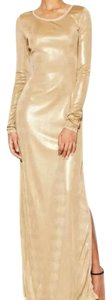 BCBGMAXAZRIA Longsleeve Metallic Shift Sheath Dress