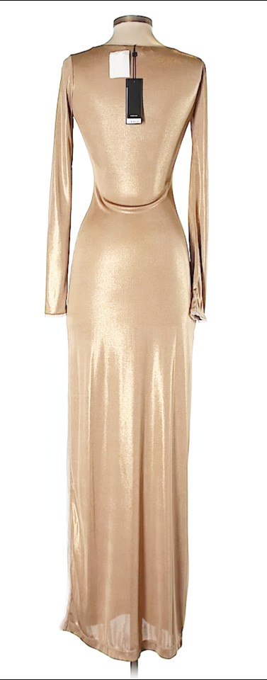 Bcbgmaxazria Longsleeve Metallic Shift Sheath Dress 123