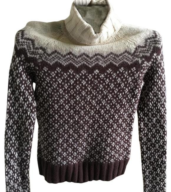 Preload https://img-static.tradesy.com/item/21342358/american-eagle-outfitters-brown-and-off-white-turtle-neck-knit-sweaterpullover-size-4-s-0-1-650-650.jpg