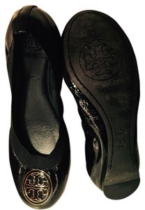 Tory Burch Black Flats
