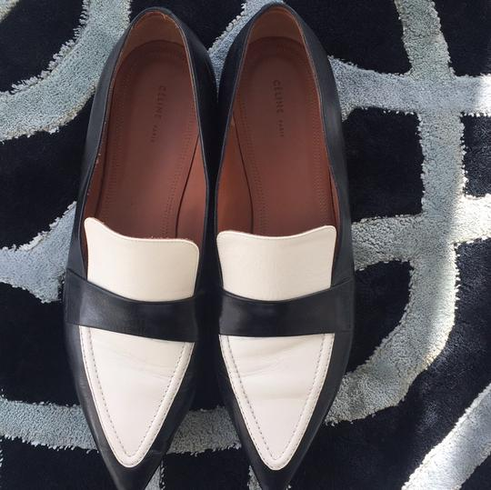 Céline black and white Flats