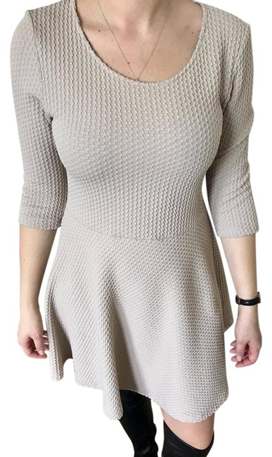 Preload https://img-static.tradesy.com/item/21342482/beige-fit-and-flare-mid-length-short-casual-dress-size-8-m-0-1-650-650.jpg
