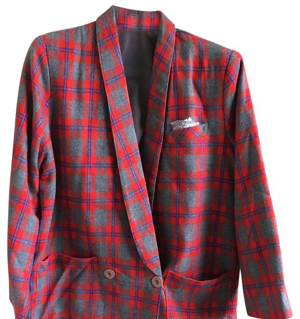 Preload https://img-static.tradesy.com/item/21342510/red-and-gray-plaids-wool-suiting-skirt-suit-size-4-s-0-1-650-650.jpg