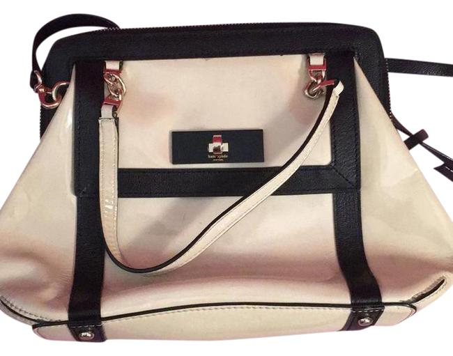 Kate Spade Small Black and Beige Patent Leather Shoulder Bag Kate Spade Small Black and Beige Patent Leather Shoulder Bag Image 1