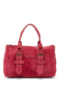 Longchamp Suede Kate Moss Duffle Satchel in Pink