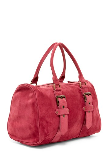 Longchamp Suede Kate Moss Duffle Satchel in Pink Image 2