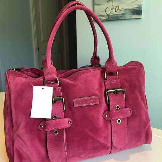 Longchamp Suede Kate Moss Duffle Satchel in Pink Image 6