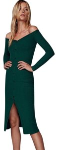 Reformation short dress Green on Tradesy