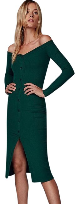 Item - Green Cora Mid-length Short Casual Dress Size 4 (S)