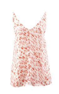 CAbi Top Pink/Coral/White Leopard Print