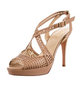 Kate Spade Prada Perforated Beige Platforms