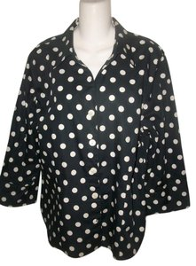 Foxcroft Plus-size Button Down Shirt Black and White
