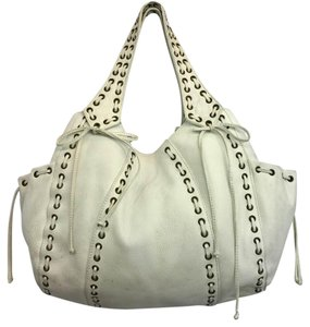 Kooba White Leather Hobo Bag