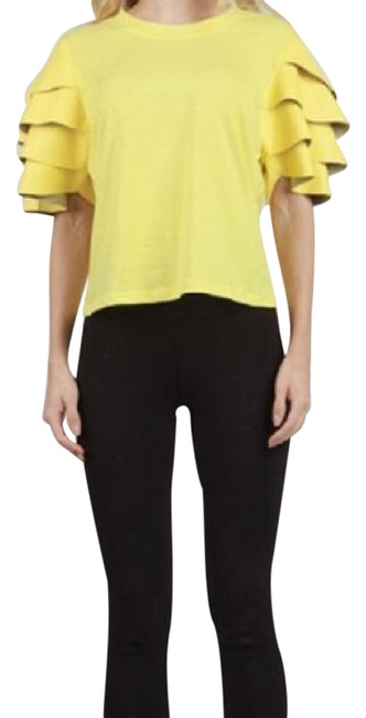 Preload https://img-static.tradesy.com/item/21342829/yellow-blouse-size-12-l-0-1-650-650.jpg