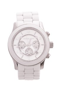 Michael Kors MICHAEL Michael Kors Stainless Steel & White Chronograph Unisex Watch