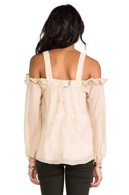 Vava by Joy Han Open Shoulder Cold Shoulder Beige Top taupe/nude Image 1