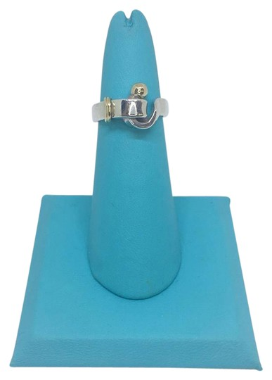 Tiffany & Co. VINTAGE Tiffany & Co. 18k Hook Ring 18k/Sterling Silver Size 4.5 Image 0