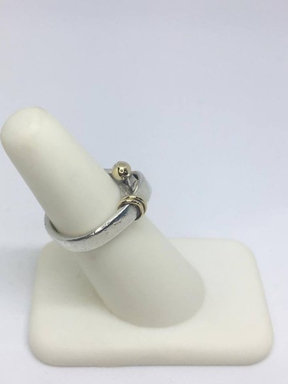 Tiffany & Co. VINTAGE Tiffany & Co. 18k Hook Ring 18k/Sterling Silver Size 4.5 Image 3