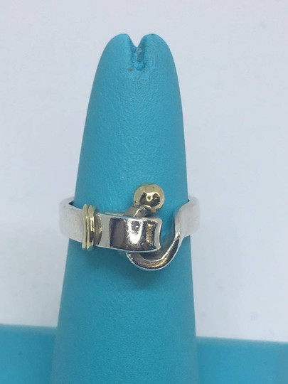 Tiffany & Co. VINTAGE Tiffany & Co. 18k Hook Ring 18k/Sterling Silver Size 4.5 Image 7