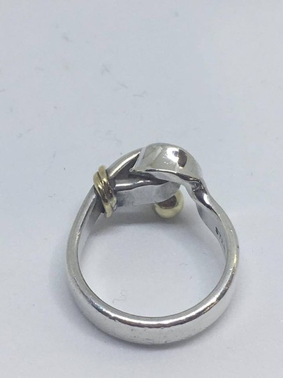 Tiffany & Co. VINTAGE Tiffany & Co. 18k Hook Ring 18k/Sterling Silver Size 4.5 Image 8