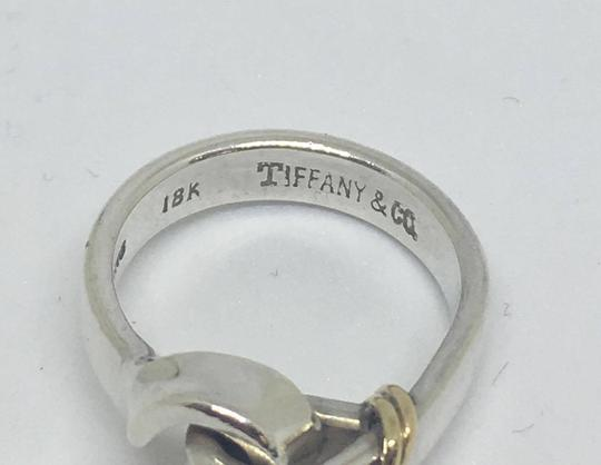 Tiffany & Co. VINTAGE Tiffany & Co. 18k Hook Ring 18k/Sterling Silver Size 4.5 Image 9