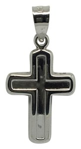 Other 14K White Gold Small Reversible Crucifix Pendant