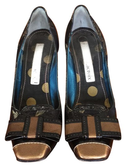 Preload https://img-static.tradesy.com/item/21342987/christian-lacroix-black-and-gold-tapestry-bow-pumps-size-us-75-regular-m-b-0-1-540-540.jpg