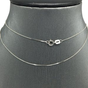 Other 14K White Gold Box Chain ~0.50mm 20 Inches