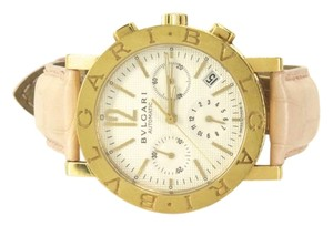 BVLGARI Authentic Bvlgari Gold Diagono Chronograph Watch 38mm