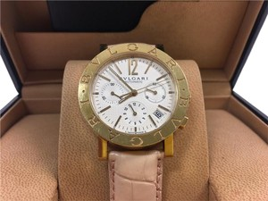 BVLGARI Bvlgari 18K Yellow Gold Diagono Chronograph Watch 38mm BB 38 GL