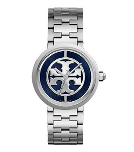 Tory Burch $400 NWT REVA WATCH, STAINLESS STEEL/NAVY WATCH TRB4026