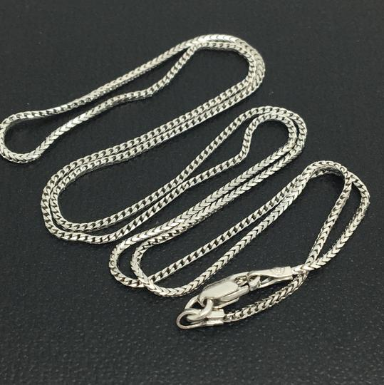 Other 14K White Gold Franco Chain 16 Inches ~0.80mm Image 1