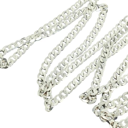 Preload https://img-static.tradesy.com/item/21343056/925-rhodium-sterling-silver-curb-link-chain-300mm-24-necklace-0-1-540-540.jpg