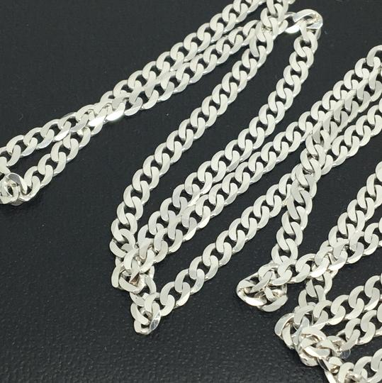 Other 925 Rhodium Sterling Silver Curb Link Chain ~3.00mm 24