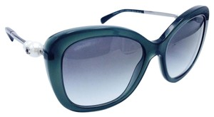 Chanel Butterfly Green Fantasy Pearl Sunglasses 5339H 1549/S3