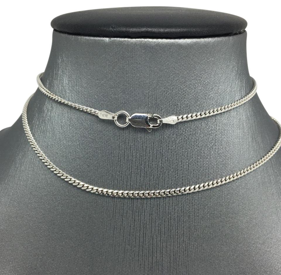 540bd2b0fbf4a 925 Sterling Silver Rhodium Curb Chain 22 Inches ~1.85mm Necklace 60% off  retail