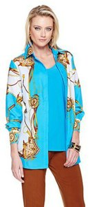 Antthony Mark Hankins Aberdeen Button Up Button Down Shirt Turquoise Multi