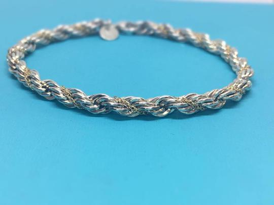 Tiffany & Co. Tiffany & Co. 18k Yellow Gold/Sterling Silver Twist Bracelet 7