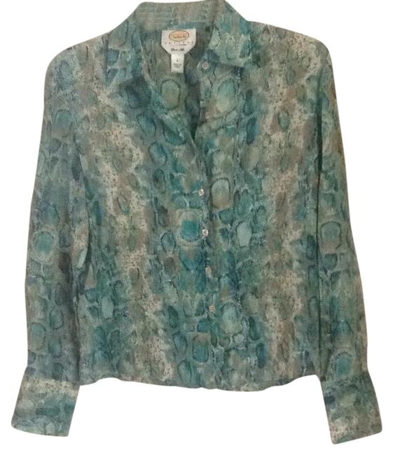 Preload https://img-static.tradesy.com/item/21343111/talbots-turquoise-teal-multi-silk-button-down-top-size-petite-4-s-0-1-650-650.jpg