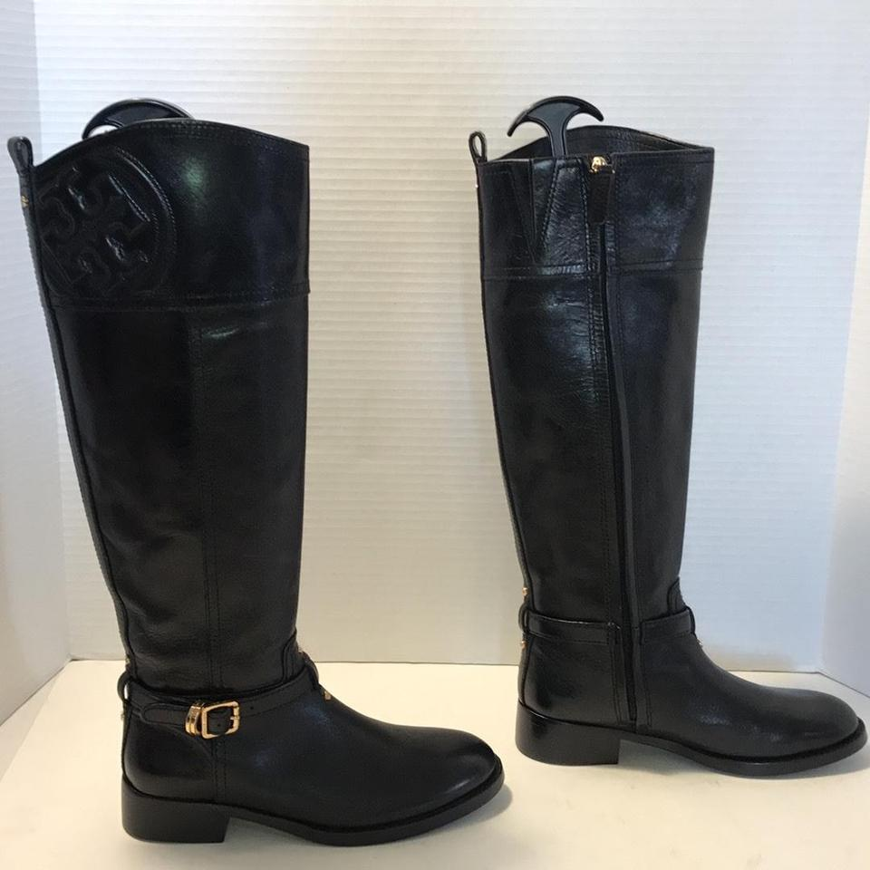 a822063b8e22 Tory Burch Marlene Leather Riding Black Boots Booties Size US 5 ...
