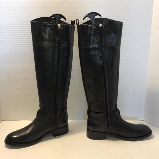 Tory Burch Riding Black Leather Boots Image 2