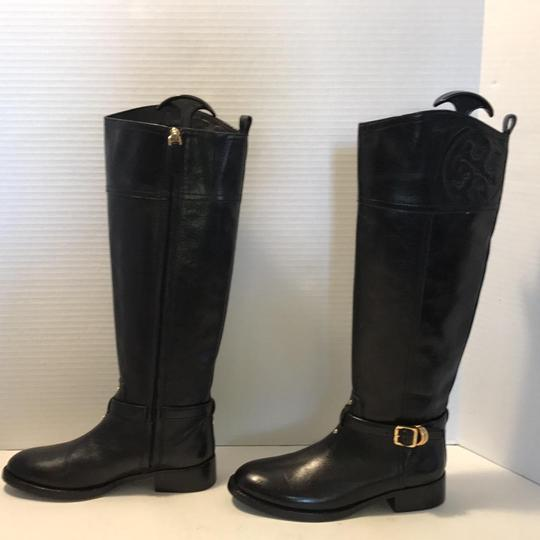 Tory Burch Riding Black Leather Boots Image 3