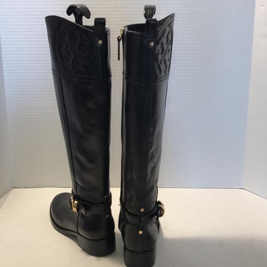 Tory Burch Riding Black Leather Boots Image 4
