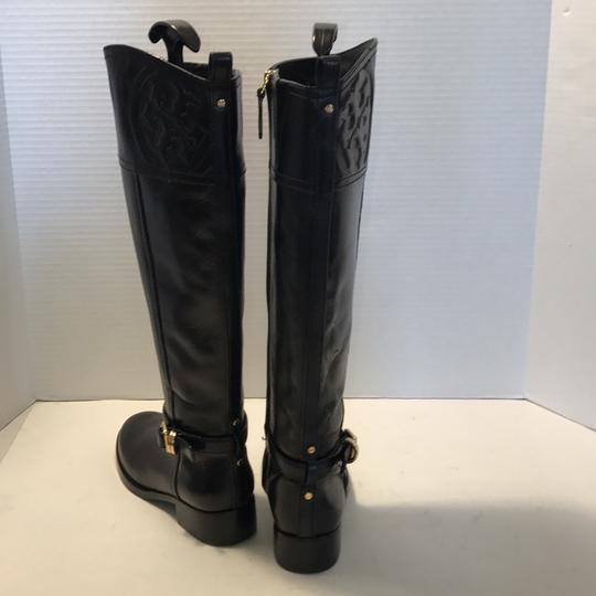 Tory Burch Riding Black Leather Boots Image 5