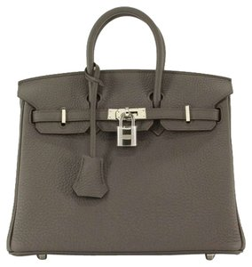 Hermès 25cm Etain Togo Satchel in Gray
